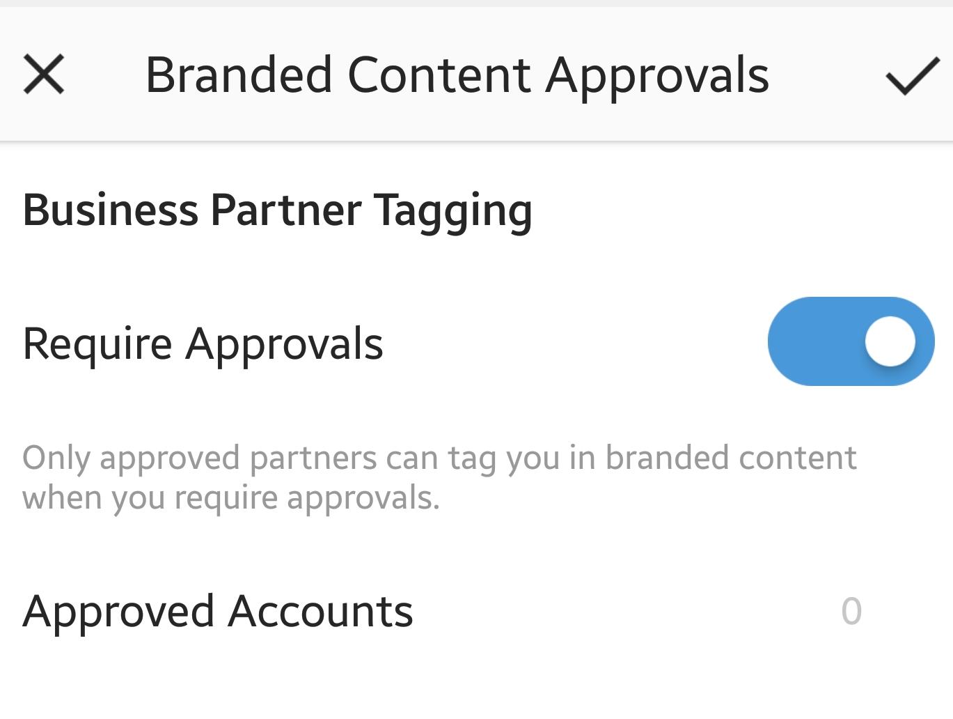 Активиране на Branded Content одобрението