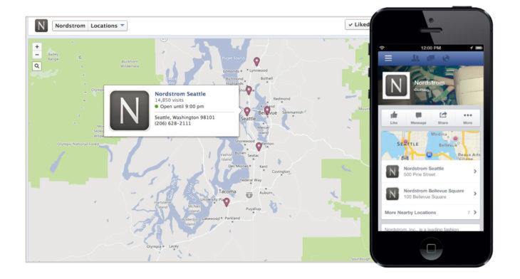"""Таб """"Locations"""" във фейсбук страницата"""